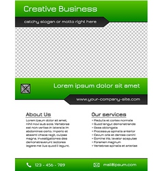 Business multipurpose flyer template - green vector image