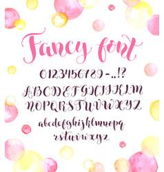 Calligraphic script letters vector
