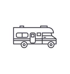 caravan car line icon concept caravan car vector image
