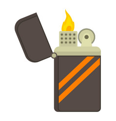 cigarette lighter icon cartoon style vector image