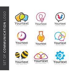 communication logo collection vector image