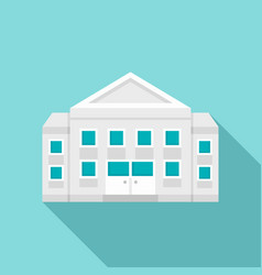 courthouse building icon flat style vector image