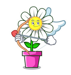 cupid daisy flower character cartoon vector image