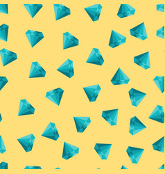 cute seamless texture with diamonds on vector image