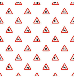 dangerous turn right pattern seamless vector image