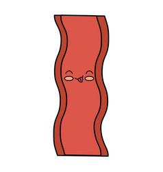 delicious bacon kawaii character vector image