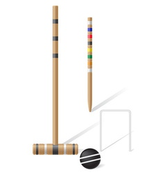 equipment for croquet vector image