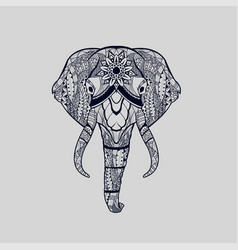 ethnic patterned head elephant vector image