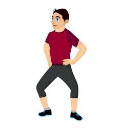 exercising man doing bending vector image
