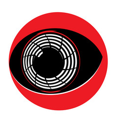 flat cyborg eyeball vector image