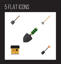 Flat icon garden set of tool shovel spade and vector