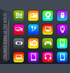 gadget icons set vector image