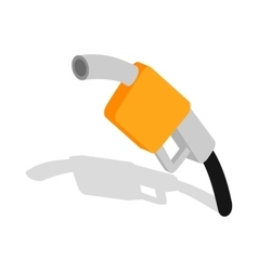 Gas station gun icon isometric 3d style vector