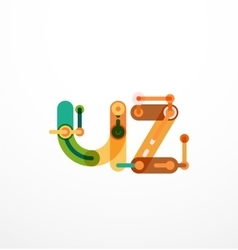 Geometric design letters vector image
