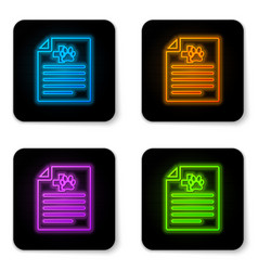 glowing neon medical certificate for travel with vector image