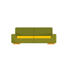 green modern sofa icon flat style vector image