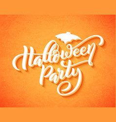 happy halloween party hand drawn creative vector image