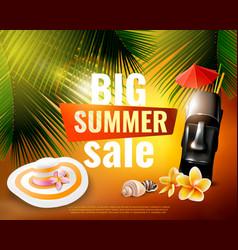 Hawaiian summer sale poster vector