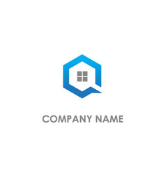 home realty window logo vector image