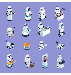 Home Robots Isometric Collection vector image