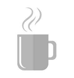 hot coffee mug vector image