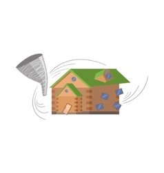 House and tornado natural forces threat vector