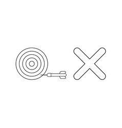 icon concept bulls eye with dart in side vector image