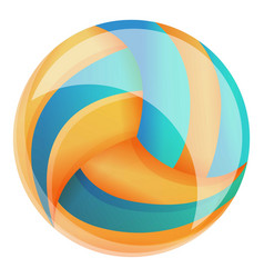 indoor volleyball ball icon cartoon style vector image