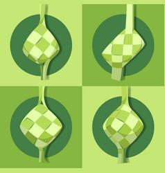ketupat collection for eid al-adha flat vektor vector image