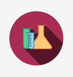 laboratory equipment icon flasks vector image