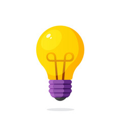 Light bulb in flat style vector
