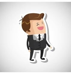 Man profile design vector