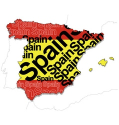 Map of Spain 1 vector