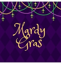Mardy gras purple background vector image