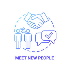 Meet new people concept icon vector