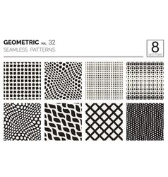 Minimal geometric seamless patterns set vector