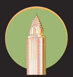 minimalistic icon the chrysler building vector image