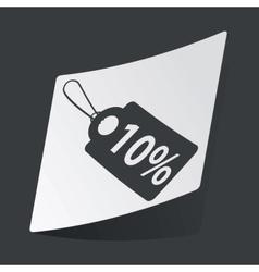 Monochrome discount sticker vector image