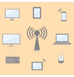 multimedia devices vector image vector image
