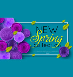 new spring collection background decorated ultra vector image