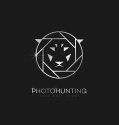 photo hunting logo vector image