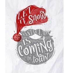 Poster Santa Claus vector image vector image