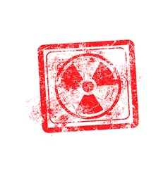 Radiation sign icon red grunge rubber stamp vector image