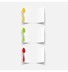 Realistic design element spoon vector
