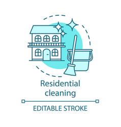 Residential cleaning concept icon vector