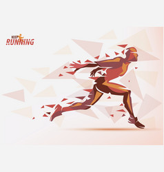 Running man sport and competition background with vector