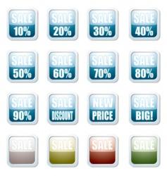 sale discount button vector image vector image
