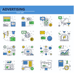 set business marketing and advertising vector image