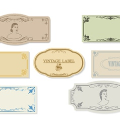 Set of a retro of labels of ancient design vector image