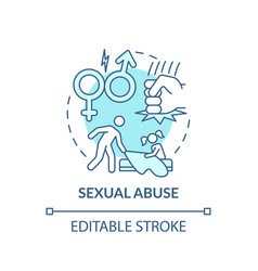 Sexual abuse turquoise concept icon vector